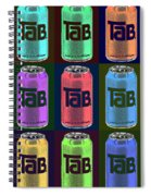 Tab Ode To Andy Warhol Black Spiral Notebook