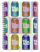Tab Ode To Andy Warhol Repeat Horizontal Spiral Notebook