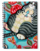 Tabby Cat On A Cushion Spiral Notebook