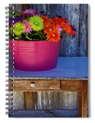 Table Top Flowers Spiral Notebook