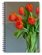 Table Top Tulips Spiral Notebook