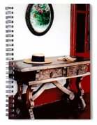 Table With Hat And Book Spiral Notebook
