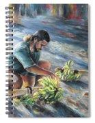 Tahitian Banana Carryer Spiral Notebook