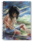 Tahitian Boy With Knife Spiral Notebook