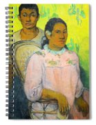 Tahitian Woman And Boy Spiral Notebook