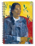 Tahitian Woman With A Flower Spiral Notebook