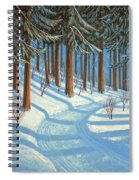 Tahoe Forest In Winter Spiral Notebook