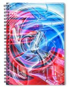 Tail Light Abstract Spiral Notebook