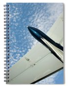 Tail Of The Airplane Spiral Notebook