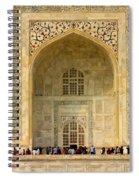 Taj Mahal Close Up Spiral Notebook