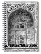 Taj Mahal Close Up In Black And White Spiral Notebook