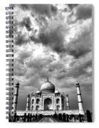 Taj Mahal India In Black And White Spiral Notebook