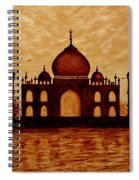 Taj Mahal Lovers Dream Original Coffee Painting Spiral Notebook