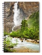 Takakkaw Falls Waterfall In Yoho National Park Canada Spiral Notebook