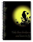 Take These Broken Wings And Learn To Fly Spiral Notebook