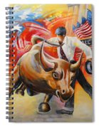 Taking On The Wall Street Bull Spiral Notebook