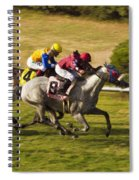 Taking Over - Del Mar Horse Race Spiral Notebook