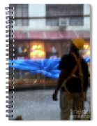 Taking Shelter From The Rain Spiral Notebook