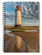 Talacre Lighthouse Sunset Spiral Notebook
