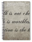 Talk Is Not Cheap It Is Worthless - Action Is Key - Poem - Emotion Spiral Notebook
