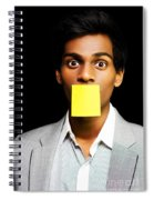 Talkative Forgetful Office Worker Spiral Notebook
