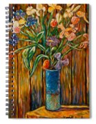 Tall Blue Vase Spiral Notebook