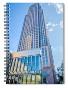 Tall Highrise Buildings In Uptown Charlotte Near Blumental Perfo Spiral Notebook