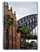 Tall Palms Before Beautiful Architecture Spiral Notebook