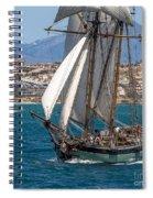 Tall Ship Alicante Spiral Notebook