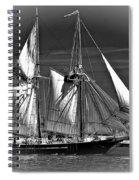 Tall Ship Bw Spiral Notebook