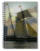 Tall Ship Chasing The Sun Spiral Notebook