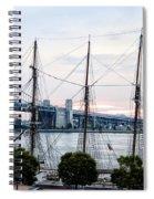 Tall Ship Gazela At Penns Landing Spiral Notebook