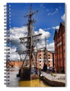 Tall Ship In Gloucester Docks Spiral Notebook