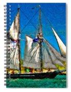 Tall Ship Paint  Spiral Notebook
