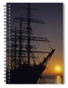 Tall Ship Silhouetted Spiral Notebook