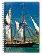 Tall Ship Vignette Spiral Notebook