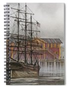 Tall Ship Waterfront Spiral Notebook