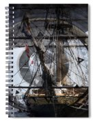Tall Ship With Compass 2013 Spiral Notebook