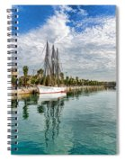 Tall Ships And Palm Trees - Impressions Of Barcelona Spiral Notebook