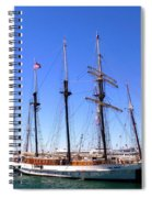 Tall Ships Big Bay Spiral Notebook