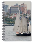 Tall Ships In The Harbor Spiral Notebook