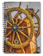 Tall Ships Wheel Spiral Notebook