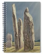 Tall Stones Of Callanish Isle Of Lewis Spiral Notebook