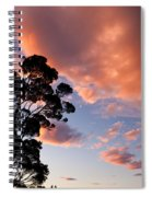 Tall Tree Against A Dramatic Sunset Clouds Sky Spiral Notebook