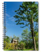 Tall Tree And Temple Spiral Notebook