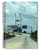 Talmadge Memorial Bridge In Savannah Georgia  Spiral Notebook