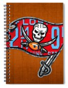 Tampa Bay Buccaneers Football Team Retro Logo Florida License Plate Art Spiral Notebook