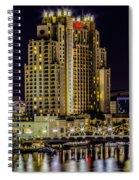 Tampa Marriott Waterside Hotel And Marina Spiral Notebook