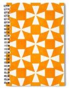 Tangerine Twirl Spiral Notebook