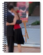 Tango Dancing On The Street Spiral Notebook